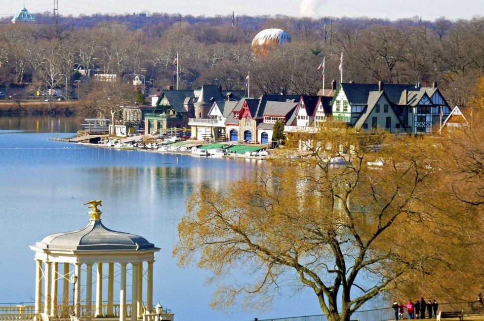 Boathouse Row, Fairmount Park, Philadelphia, Pennsylvania, USA