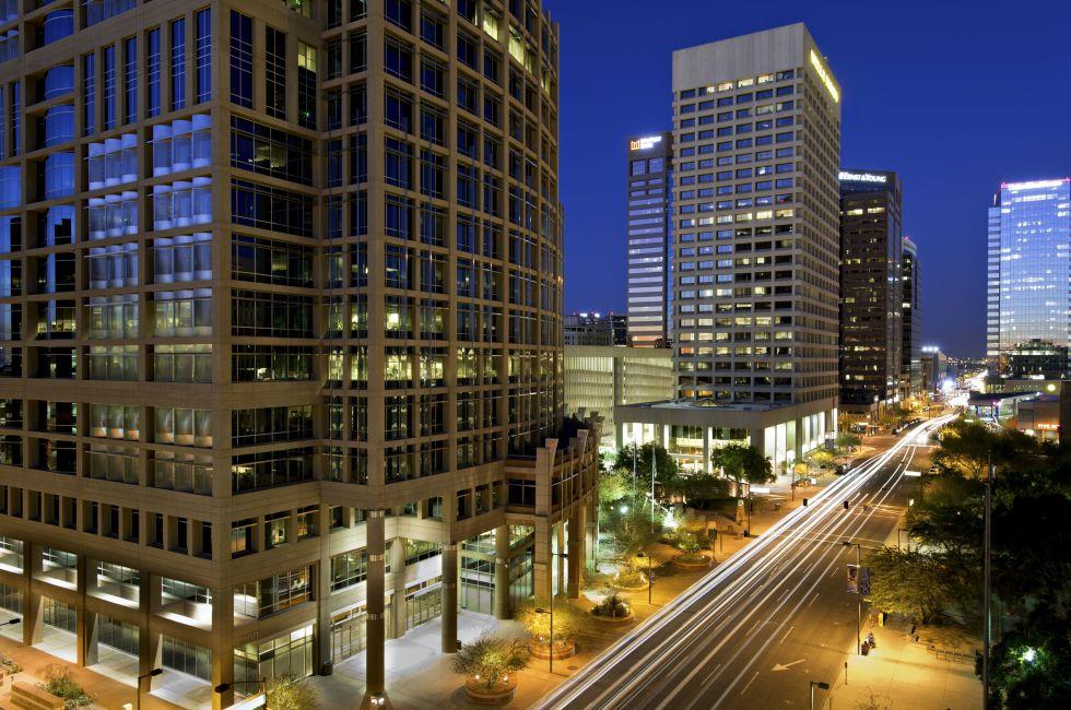 Downtown, Night, Phoenix, Arizona, USA