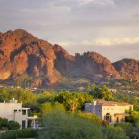 Sunset, Camelback Mountain, Scottsdale, Arizona, USA