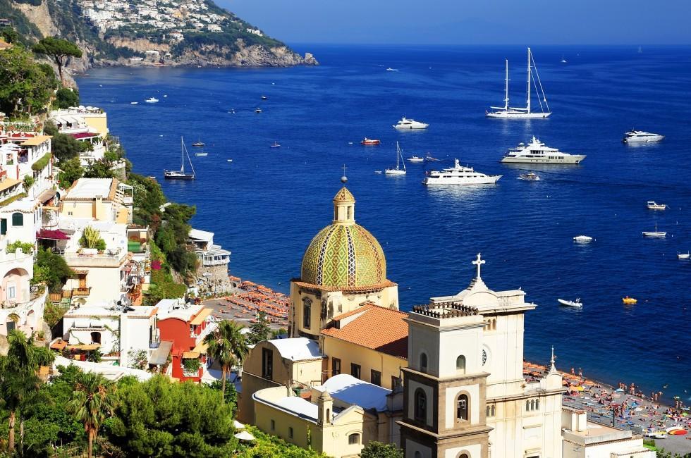 Beach, Boats, Positano Resort,Amalfi, Amalfi Coast, Naples and Campania, Italy