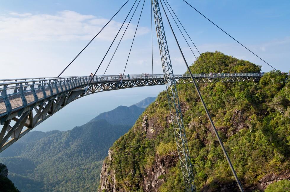 Hanging Bridge, Langkawi Island, Malaysia,