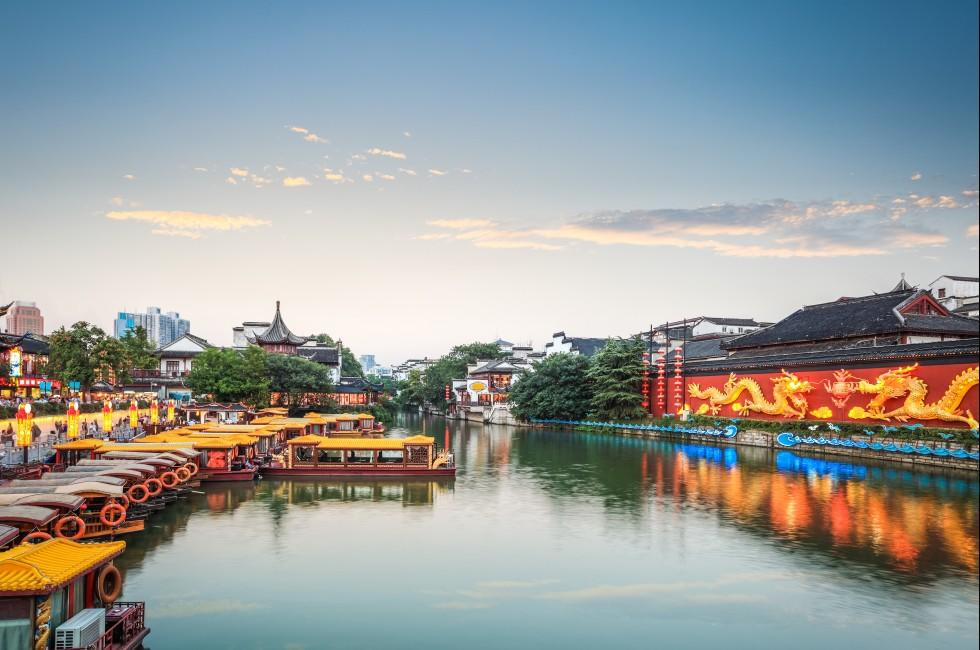 Waterfront, Confucius Temple, Yangtze River, Nanjing, China