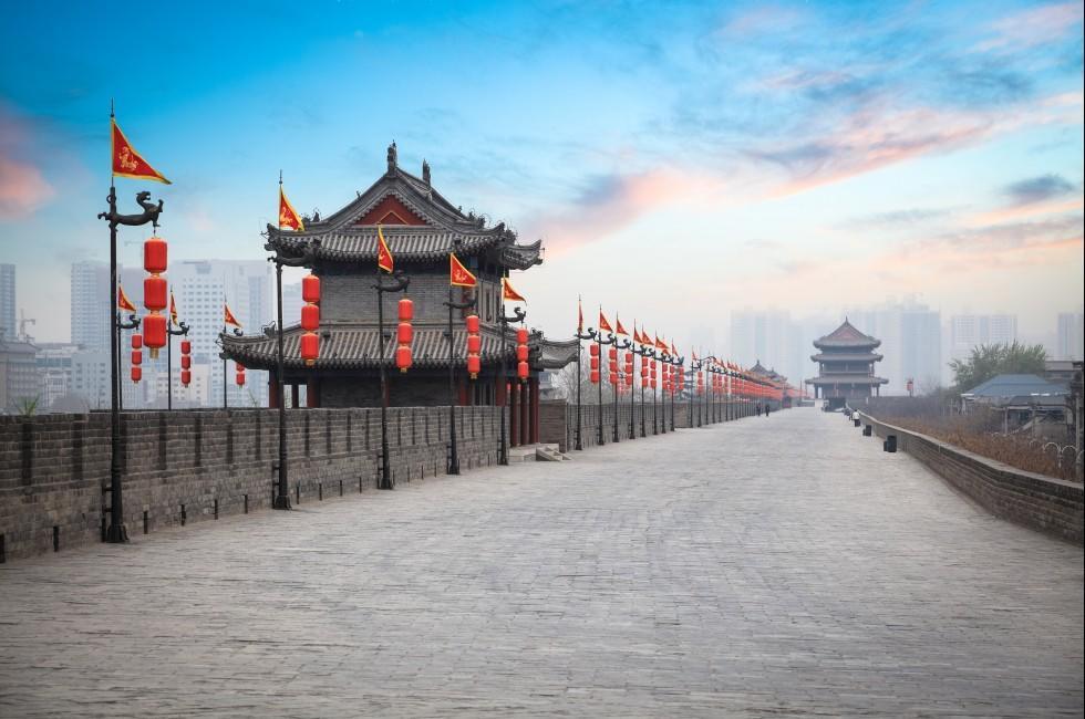 City Walls, Dusk, Xi'an, China