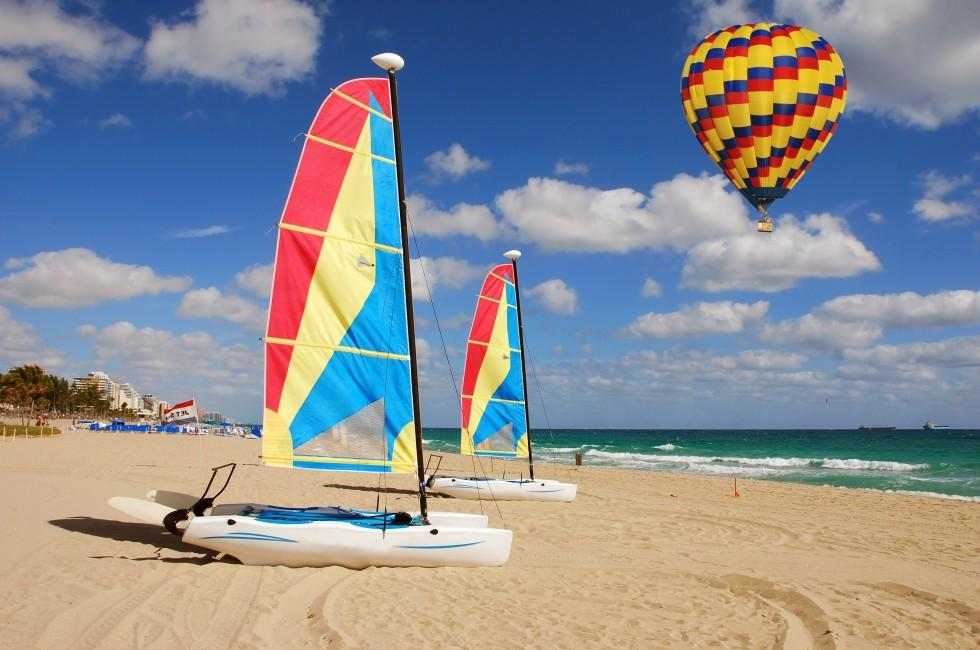 Hot Air Balloon, Boat, Fort Lauderdale and Broward County, Florida, USA