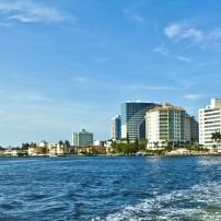 Skyline, Waterfront, Fort Lauderdale, Fort Lauderdale and Broward County, Florida, USA