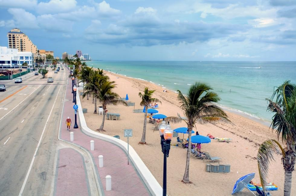 Street, Coastline, Fort Lauderdale Beach, Fort Lauderdale and Broward County, Florida, USA