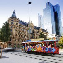 Tram, Downtown, Frankfurt, Germany