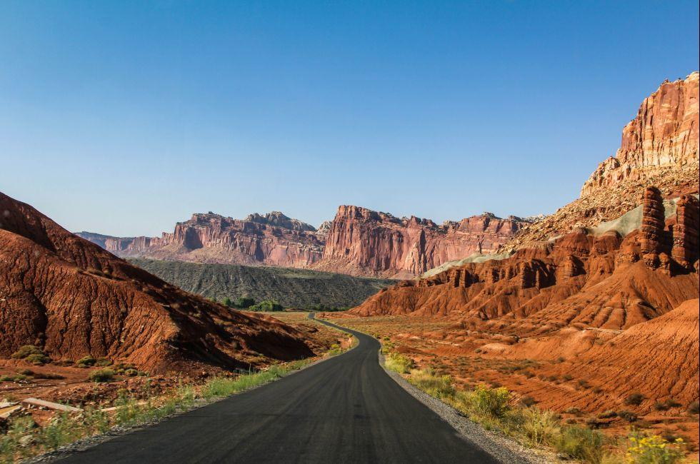 Road, Capitol Reef National Park, Utah