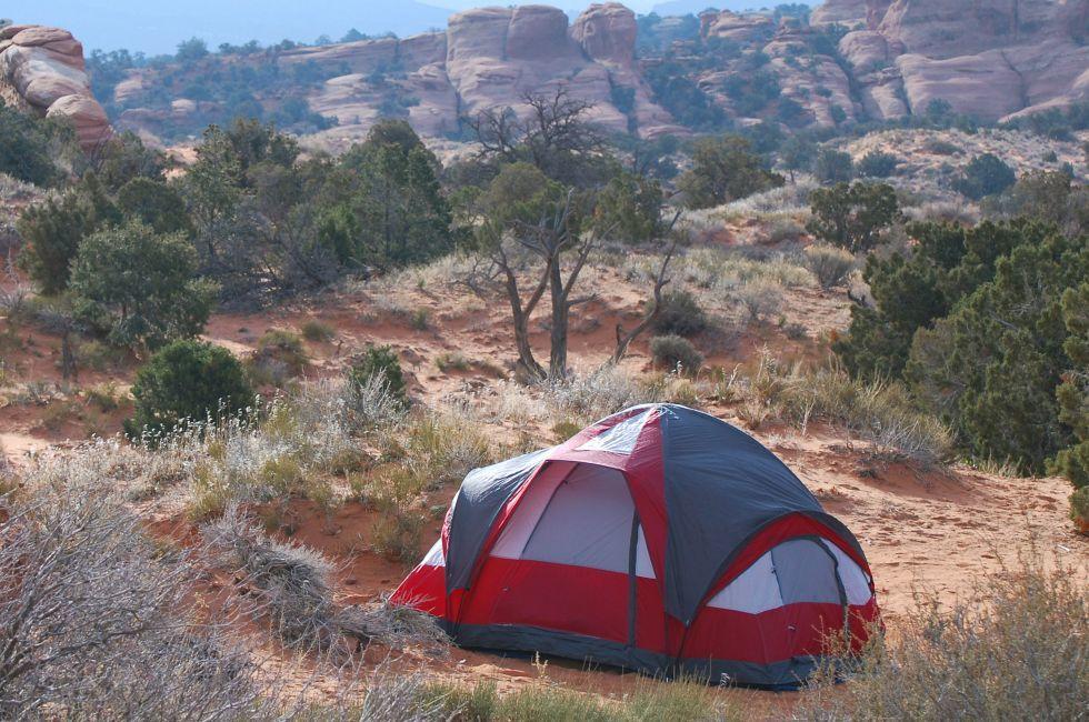 Tent, Arches National Park, Utah