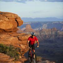 Bicyclist, Canyonlands National Park, Utah