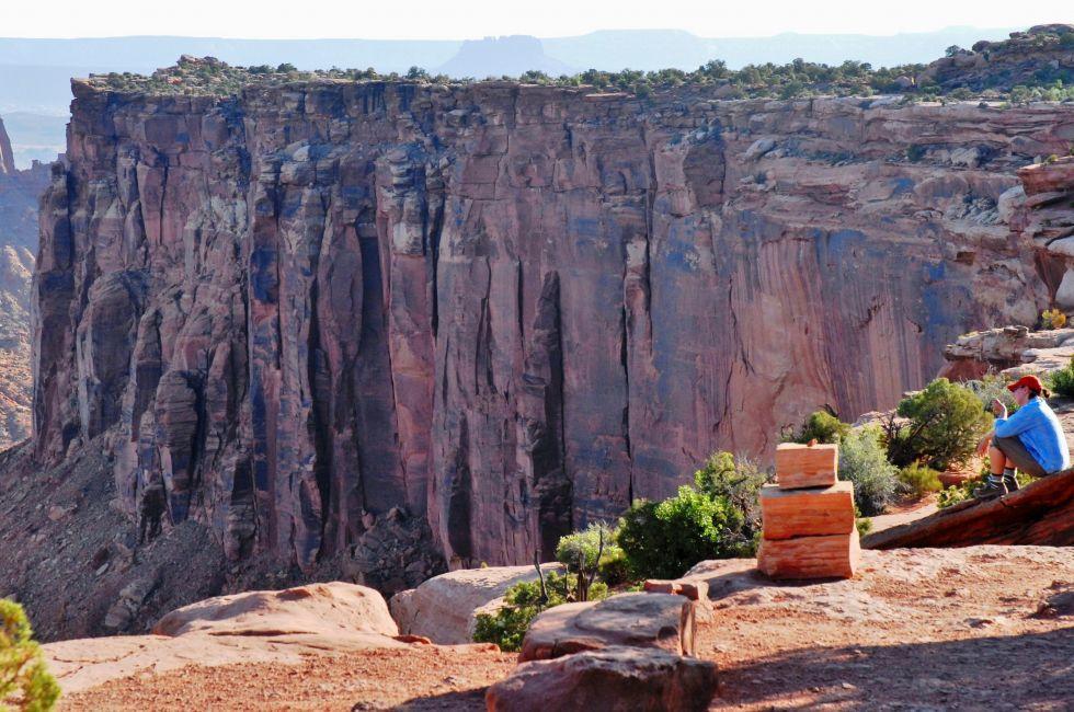 Hiker, Canyonlands National Park, Utah