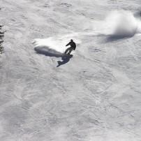 Snowboarder, Arapahoe Basin, Summit  County, Colorado, USA