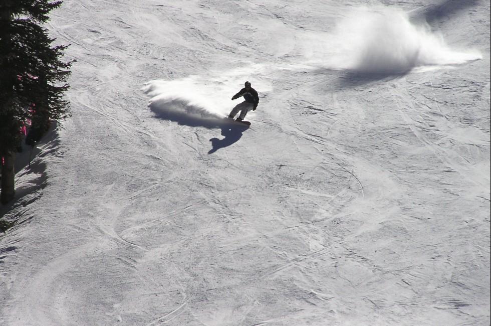 Snowboarder, Arapahoe Basin, Summit  County, Colorado, USA