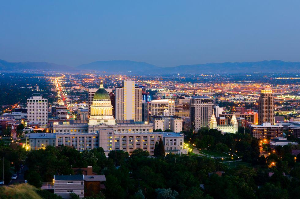 Night, Salt Lake City, Utah