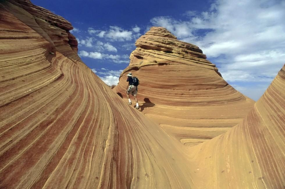Hiker, Desert, Paria, North-Central Arizona, Arizona