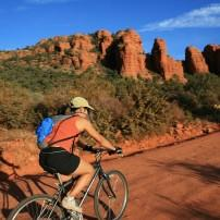 Biker,Sedona and Oak Creek Canyon, Arizona, USA