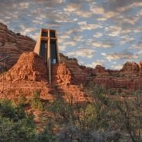 Church, Cathedral Rock, Sedona and Oak Creek Canyon, Arizona, USA