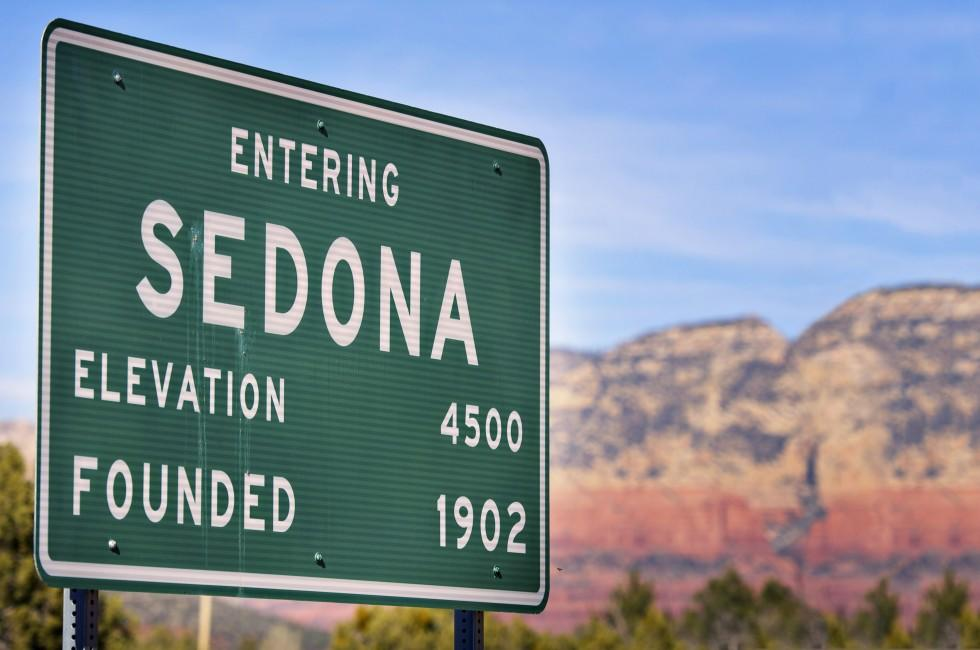 Sign, Sedona and Oak Creek Canyon, Arizona, USA