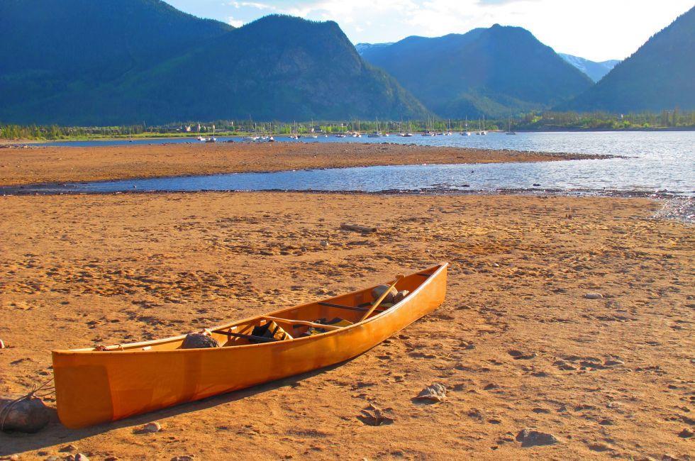 Canoe, Lake Dillon, Frisco, Colorado