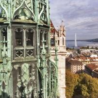 Belltower, St. Pierre Cathedral, Geneva, Switzerland