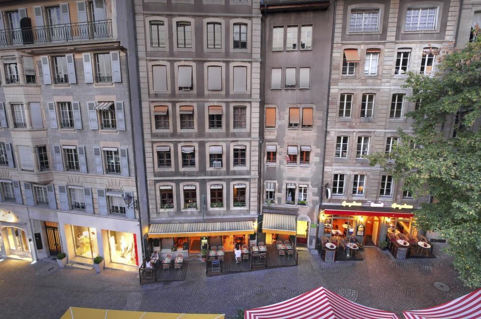 Restaurants, Rue de la Fontaine, Geneva, Switzerland