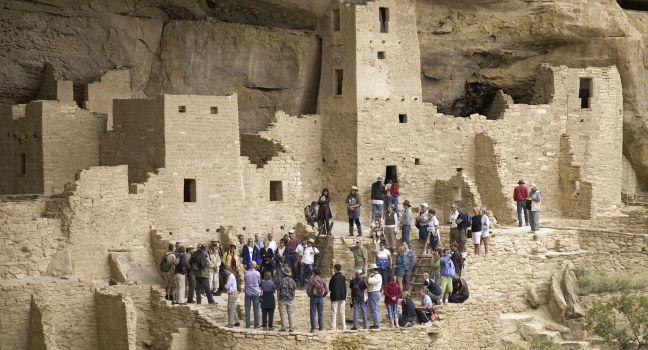Kiva, Cliff Palace, Mesa Verde National Park, Colorado, USA