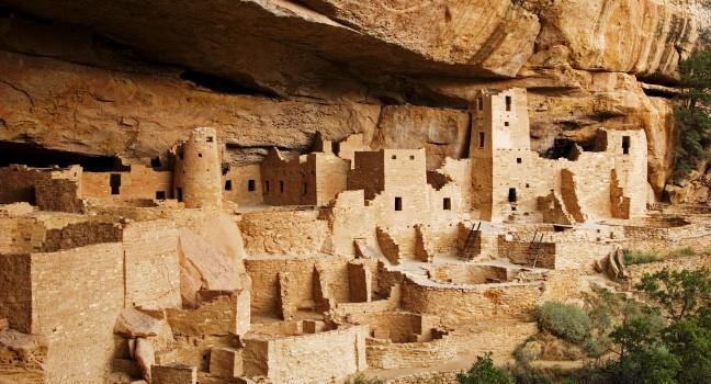 Village, Cliff Palace, Mesa Verde National Park, Colorado, USA