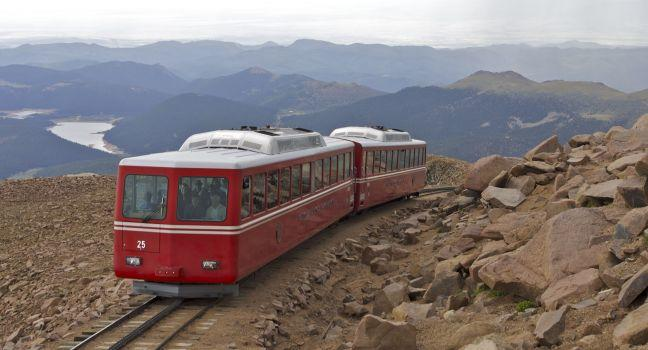 Pikes Peak Cog Railway, Pikes Peak, Colorado