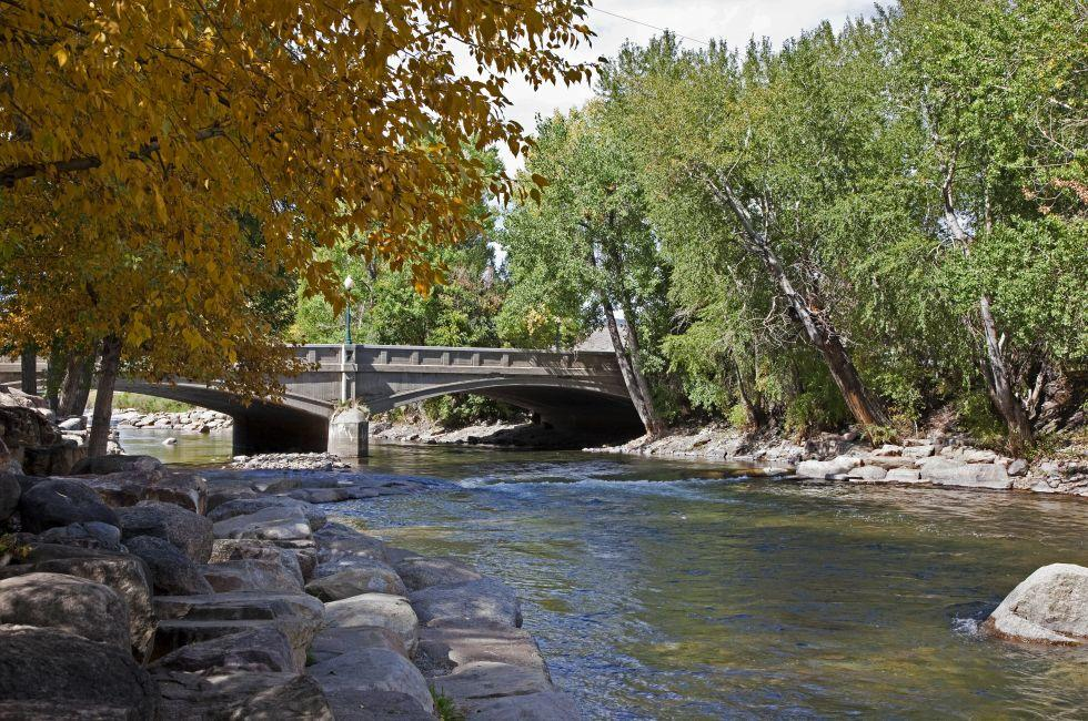 Bridge, Arkansas River, Salida, South Central Colorado, Colorado, USA, North America