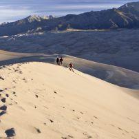 Hikers, Desert, Great Sand Dunes National Park, Colorado, USA