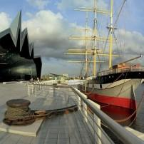 Riverside Transport Museum and River Clyde, Glasgow, Scotland
