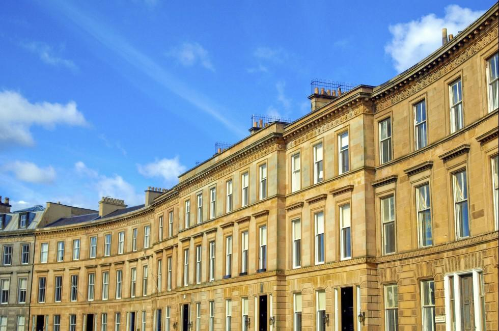 Terraced Houses, Glasgow West End, Scotland
