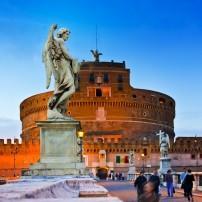St. Angelo Bridge, The Vatican, Rome, Italy