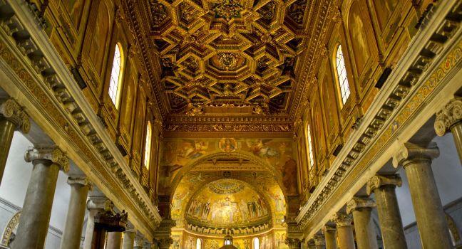 Santa Maria in Trastevere, Trastevere, Rome, Italy.