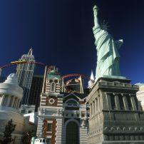 New York New York hotel Statue of Liberty Roller Coaster , Las Vegas, NV