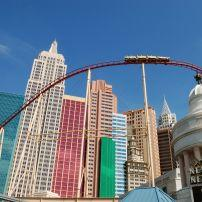 The Roller Coaster, New York-New York Hotel & Casino, Las Vegas, Nevada, USA