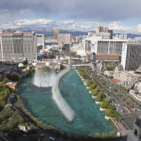 Aerial View, Bellagio, Ceasar's Palace, Paris, Center Strip, Las Vegas, Nevada, USA, North America