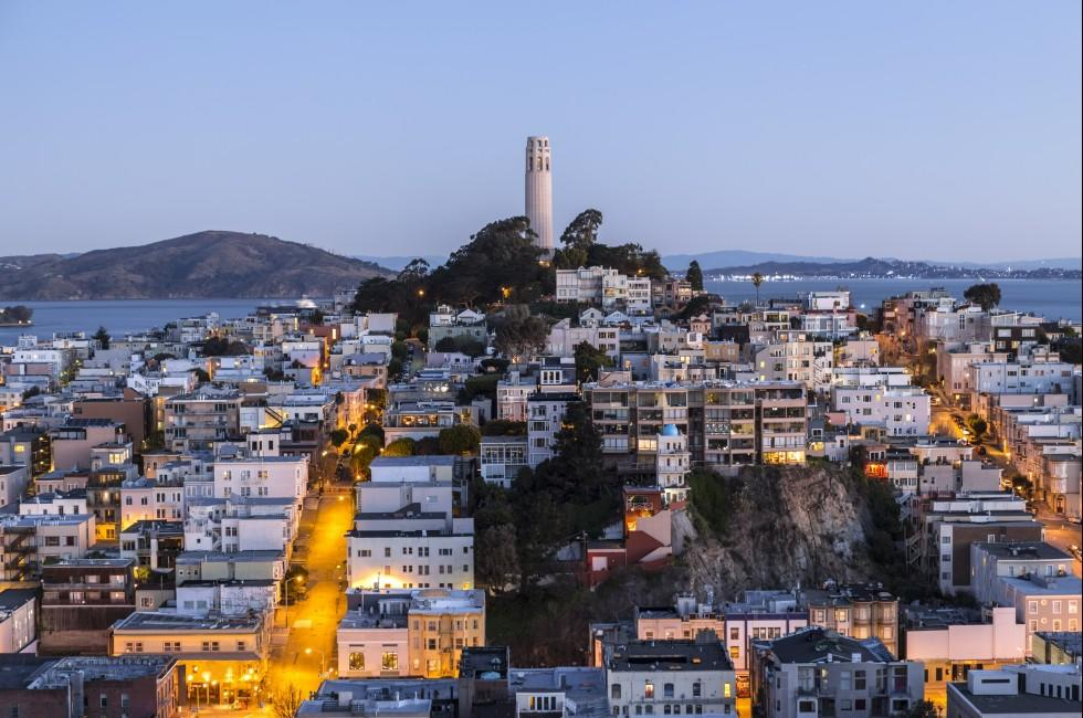 Cityscape, Telegraph Hill, San Francisco, California, USA