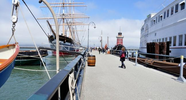 Ship, Hyde Street Pier, San Francisco, California, USA