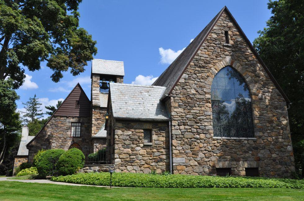 Union Church of Pocantico Hills, Pocantico Hills, The Hudson Valley, New York, USA
