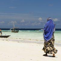 Woman, Boats, Zanzibar Island, Serengeti National Park, Tanzania