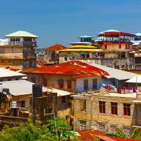 Roofs, Old Town, Stone Town, Zanzibar, Tanzania, Africa