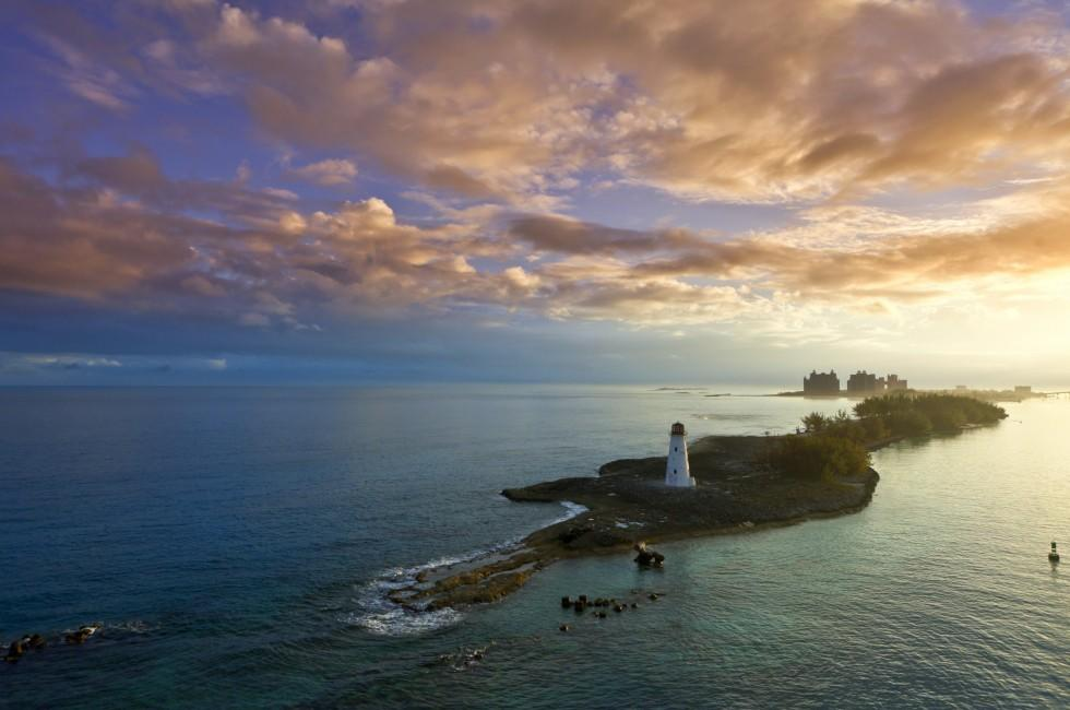 Lighthouse, Dawn, Nassau, The Bahamas, Caribbean