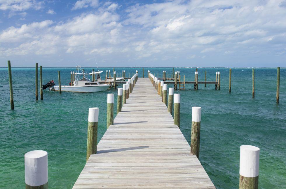 Boat, Dock, The Abacos, The Bahamas, Caribbean