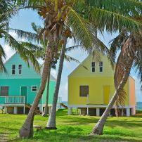 Houses, Green Turtle Cay, The Abacos, The Bahamas, Caribbean