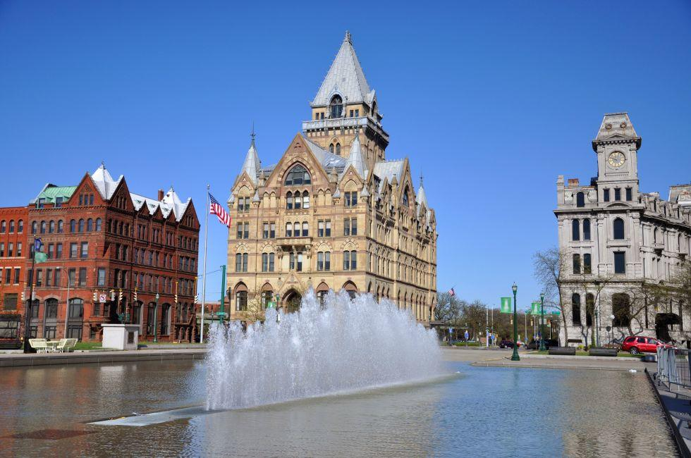 Fountain, Syracuse Savings Bank, Clinton Square, Syracuse, New York