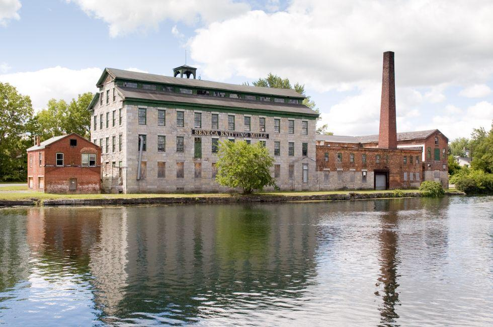 Mill, River, Seneca Falls, New York