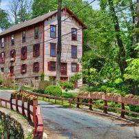 House, Bridge, Forest, Keeler Lane, North Salem, The Hudson Valley, New York, USA