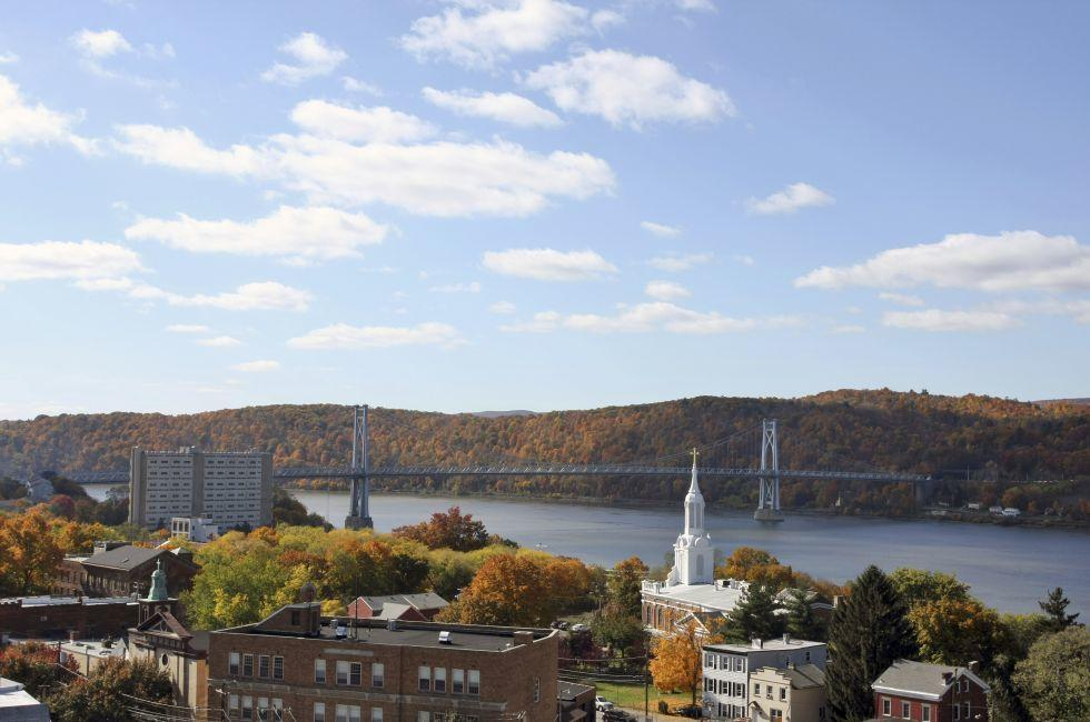 Cityscape, Mid-Hudson Bridge, Poughkeepsie, The Hudson Valley,