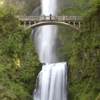 Benson Footbridge, Multnomah Falls, Columbia River Gorge, Oregon USA